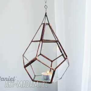 eleganckie świeczniki lampon wiszący lampion witrażowy tykwa