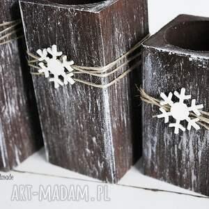 pomysł na świąteczne prezenty zestaw świątecznych świeczników