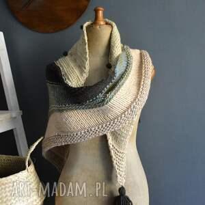 ręcznie robione szaliki chusta asymetryczna
