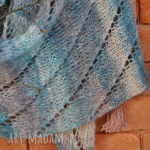 niesztampowe szaliki szalik ażurowy szal