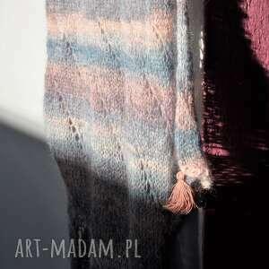 szalik szaliki szal ręcznie wydziergany z miękkiej