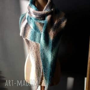 hand made szaliki szal bardzo duża chusta