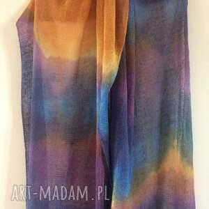 lniany szaliki barwny duży szal