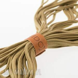 brązowe szaliki dzianinowy camel naszyjnik zamotka