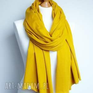 chusta szaliki ceylon yellow szal szalik