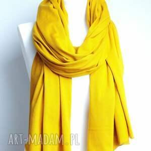 awangardowe szaliki szal ceylon yellow chusta szalik