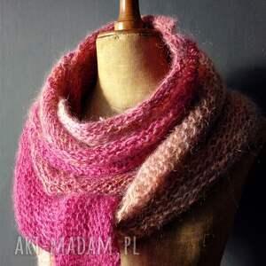 The Wool Art szaliki: ciepła chusta strzałka - Ręcznie robione wełniana
