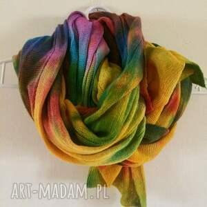 szal szaliki kolorowe ciepły kolorowy wełniany