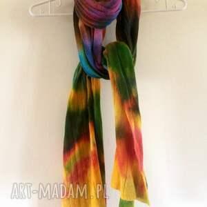 hand made szaliki szal unikatowy, ręcznie barwiony z wysokiej