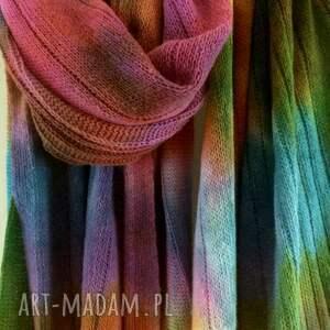 prezent szaliki ciepły kolorowy wełniany
