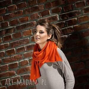 eleganckie szaliki szal ciepły, pomarańczowy