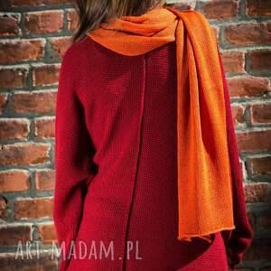 szaliki szalik ciepły, obszerny, miękki szal w kolorze
