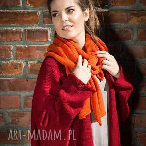 eleganckie szaliki szalik ciepły, pomarańczowy szal