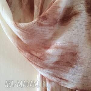 prezent szaliki unikatowy, ręcznie barwiony szal z wysokiej