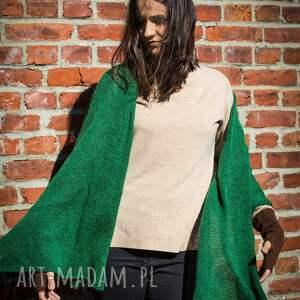 szaliki szalik ciepły, zielony szal
