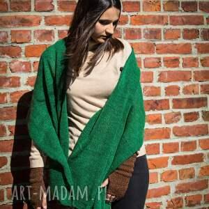 szalik szaliki ciepły, zielony szal