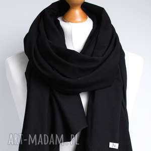 niepowtarzalne szaliki czarny szal chusta szalik