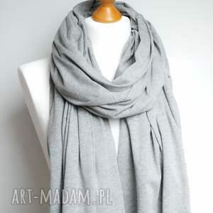 szalik szaliki długi szal bawełniany szary