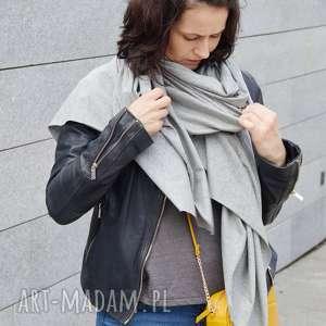 Pracownia Zolla szaliki szal długi szalik bawełniany szary