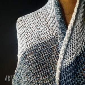 szaliki plażowa chusta duża asymetryczna