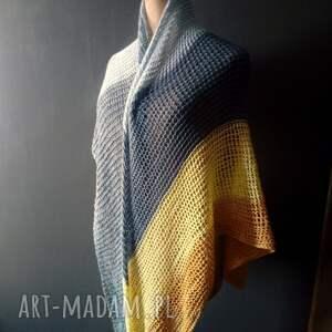 hand made szaliki chusta duża asymetryczna