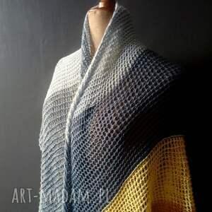 hand made szaliki plażowa chusta duża asymetryczna