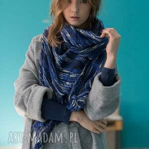 ręcznie zrobione szaliki prezent duży dzianinowy szal chusta
