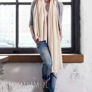 waniliowy szaliki duży szal z bawełny organicznej