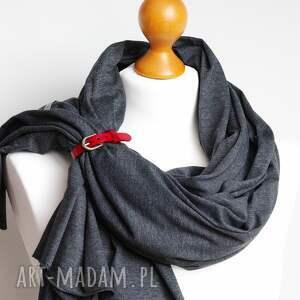 szare szaliki szal duży bawełniany na jesień