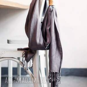 szaliki frędzle duży wiskozowy szal z frędzlami