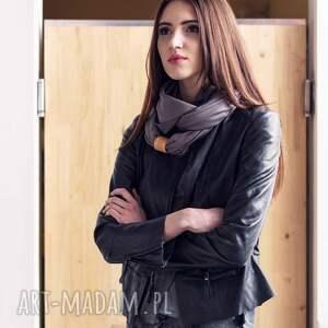 wiskoza szaliki czarne duży wiskozowy szal z frędzlami