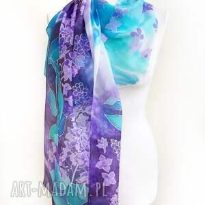atrakcyjne szaliki dwukolorowy szalik szal jedwabny bzy