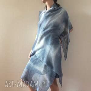 unikalne szaliki dzianina elegancki lniany szal