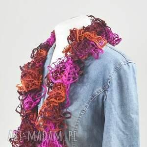 fioletowe szaliki szal fantazyjny - rudy