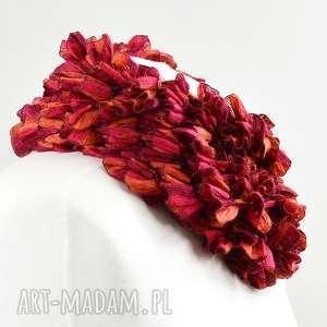 szaliki dodatek fantazyjny szal - malinowo-czerwony