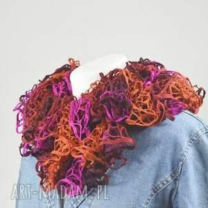 eleganckie szaliki szalik fantazyjny szal - rudy