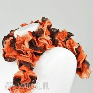 wyjątkowe szaliki szalik fantazyjny szal - brązy