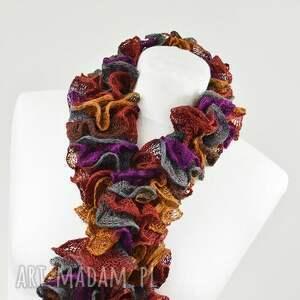 wyraziste szaliki szalik fantazyjny szal - jesienny