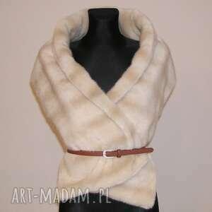 nietypowe szaliki fur scarf zamówienie
