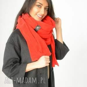 szaliki bawełna gruby szal z weluru czerwony