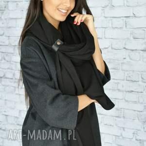 szal-czarny szaliki gruby szal 250cm!! czarny