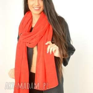 bawełna szaliki gruby szal z weluru czerwony