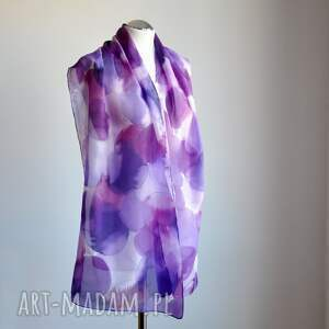 oryginalne szaliki jedwab jedwabny malowany szal - odcienie