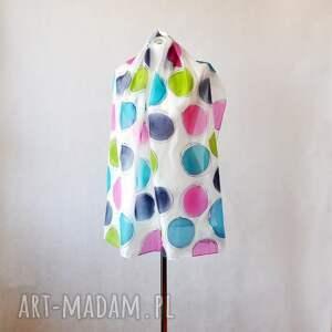 hand made szaliki kolorowy szal jedwabny malowany w kolorowe