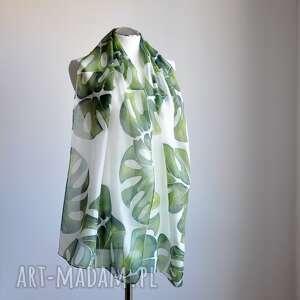 ręcznie malowany szaliki jedwabny szal w zielone