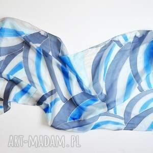 szaliki szal jedwabny malowany - graficzne