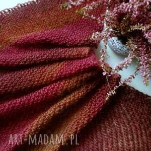 hand made szaliki szal jesienna asymetryczna chusta