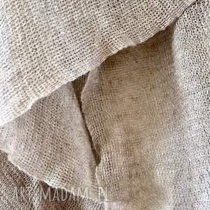 szal szaliki klasyczny lniany w naturalnym