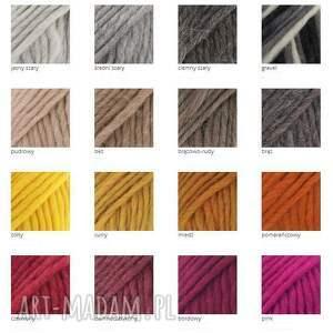 szare szaliki grubyszal 48 kolorów 100% wool ciepły
