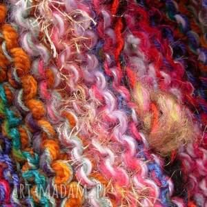 dziergany szaliki kolorowe kolorowy szal boho